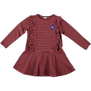 Picnik Pink Striped Dress with Ruffles size 6Y